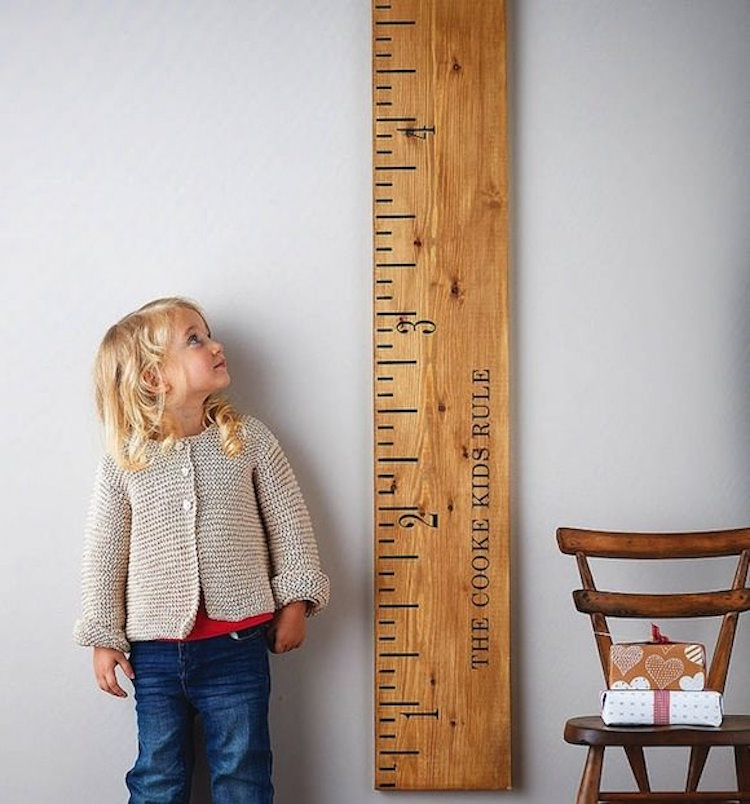 Giant Growth Chart Wooden Ruler
