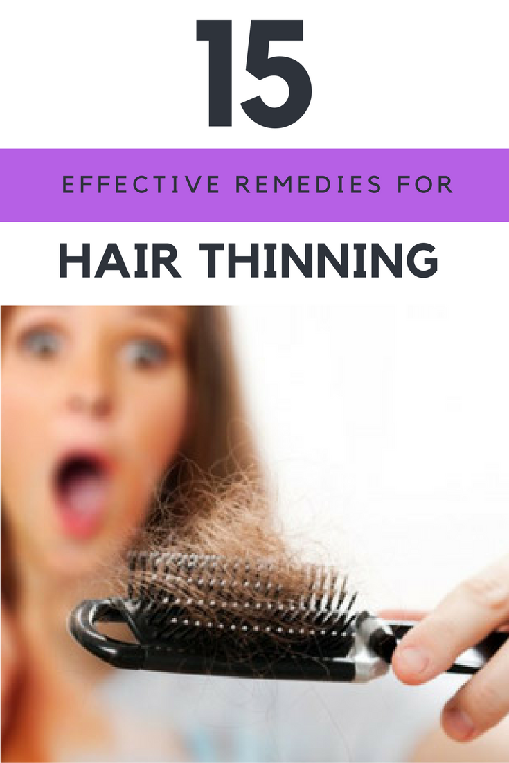 15 Most Effective Remedies For Thinning Hair in the World.   Ideahacks.com