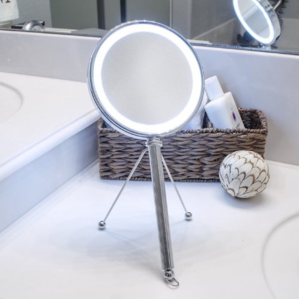 Pure Enrichment Led Lighted Double Sided Makeup Vanity Mirror