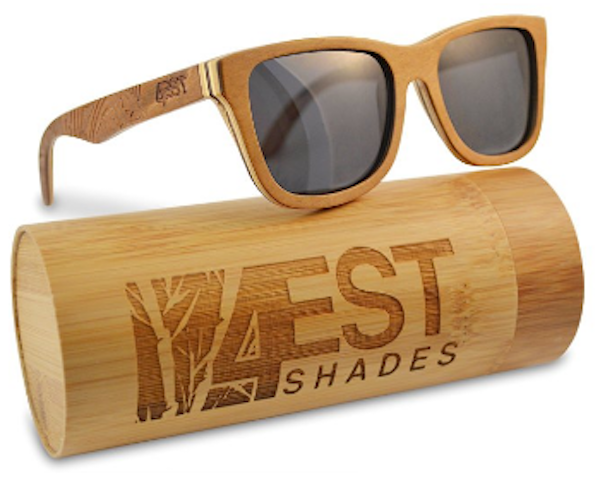 4est Shades Sunglasses made from Maple/Cherry
