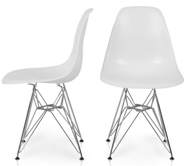 Bellezza© Eames Style Molded Plastic Eiffel Side Chair