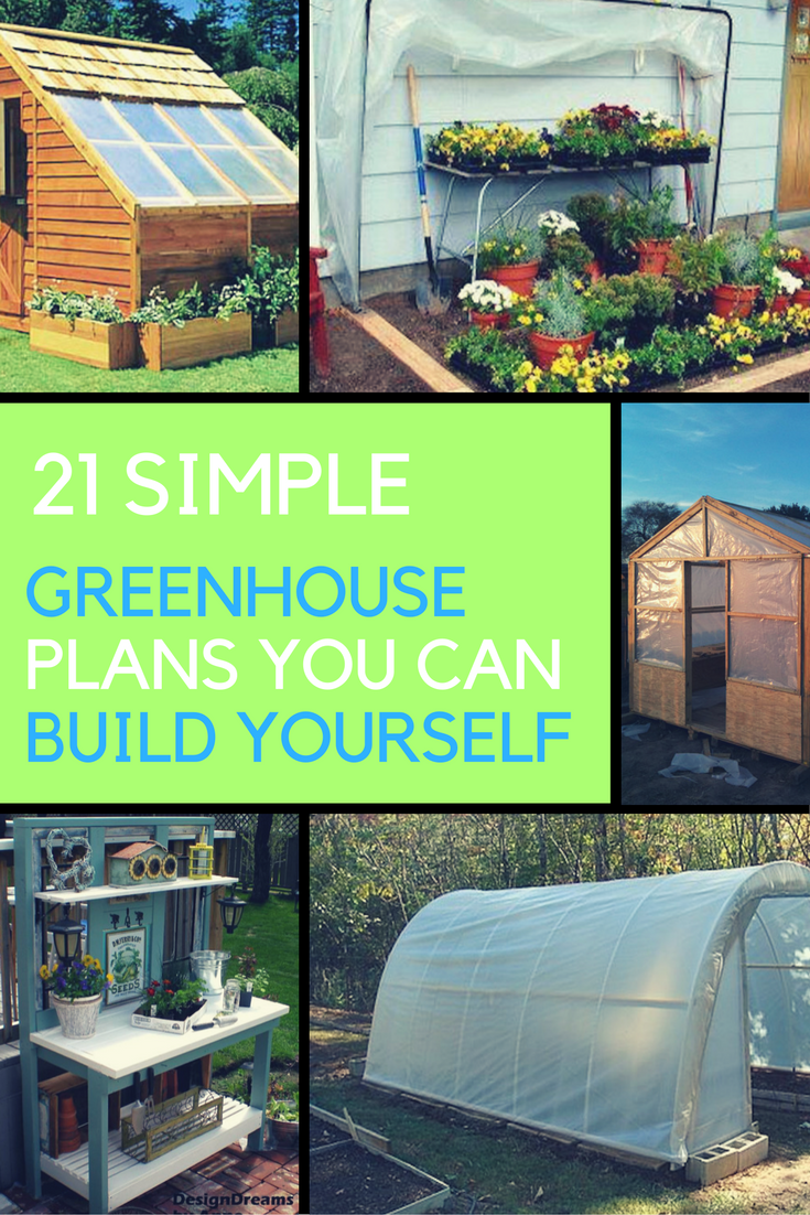 21 Cheap U0026 Easy Greenhouse Plans You Can Build Yourself.