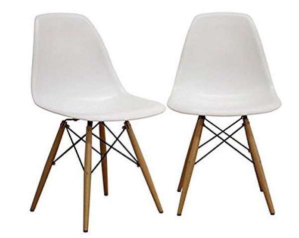 Fancierstudio Mid-Century Modern Designer Plastic Chair  sc 1 st  IdeaHacks & Top 10 Best Eames Chairs Reviewed in 2018