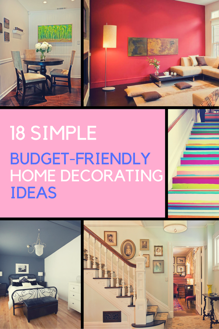 Home Decorating Ideas - 18 DIY Budget-Friendly Designs