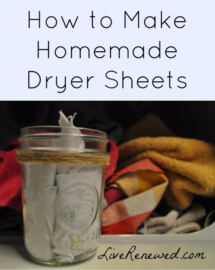 Live Renewed Dryer Sheet Recipe