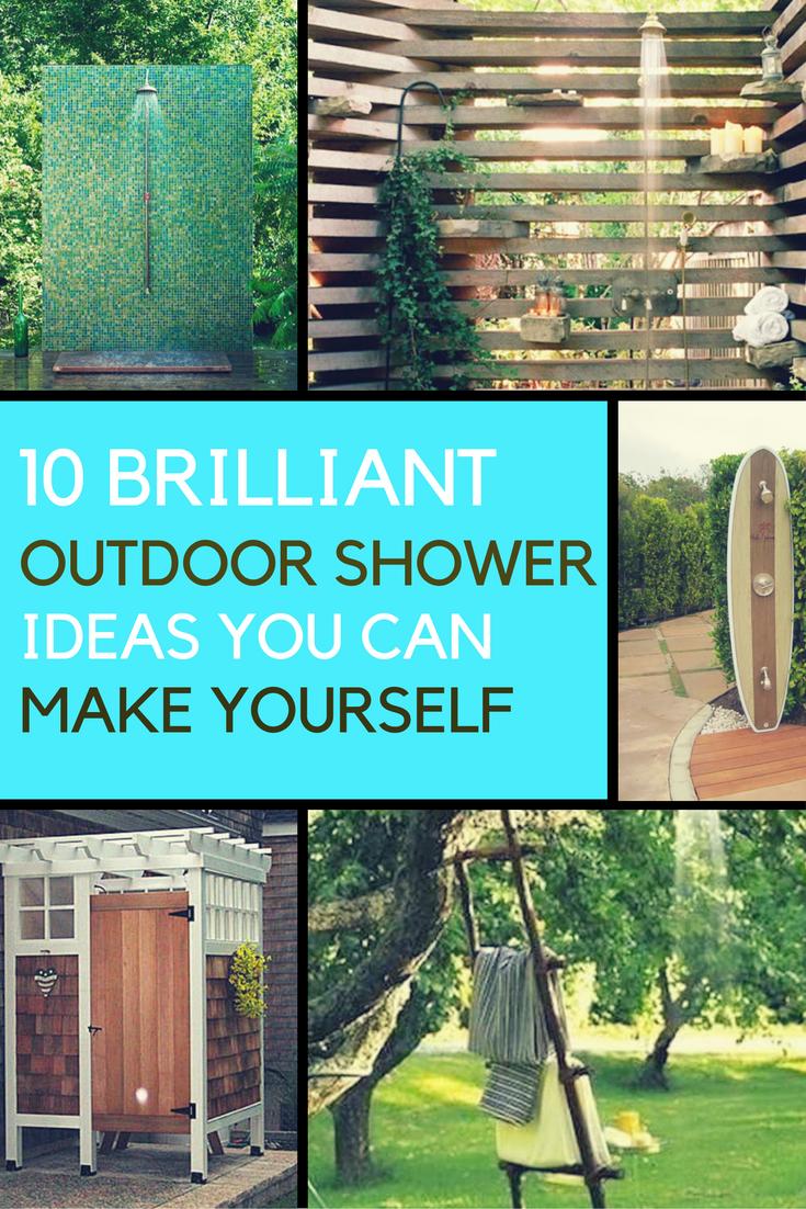 E 10 Brilliant Outdoor Shower Fixtures You Can Make Yourself  Ideahackscom