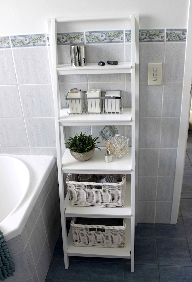 Vertical Bathroom Storage