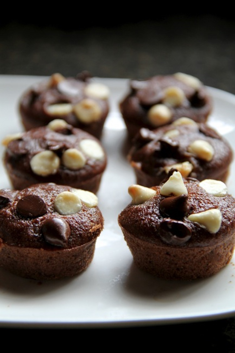 Double Chocolate Raspberry Brownie Bites