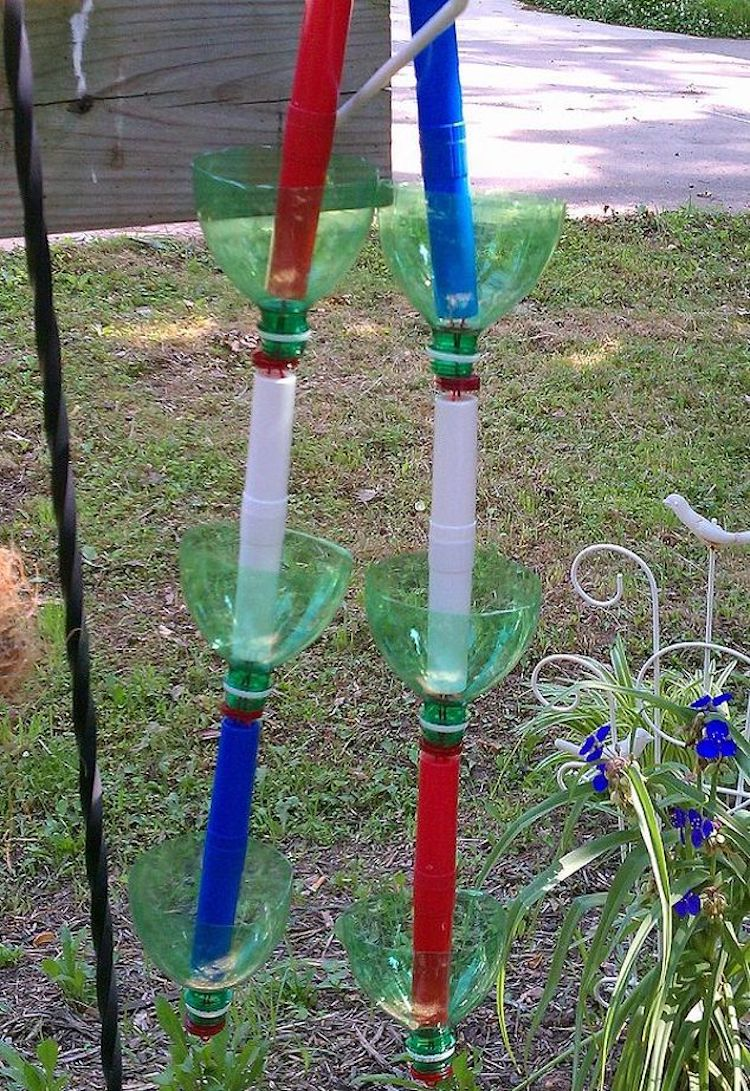 Recycled Soda Bottles Rain Chains