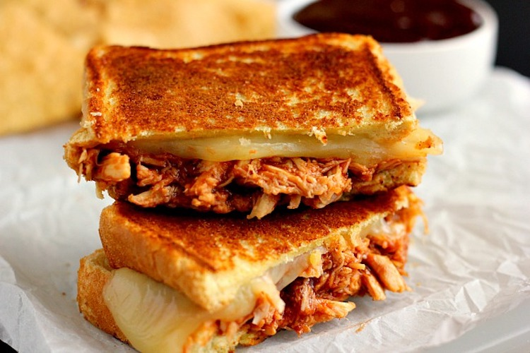 Barbecue Chicken Grilled Cheese