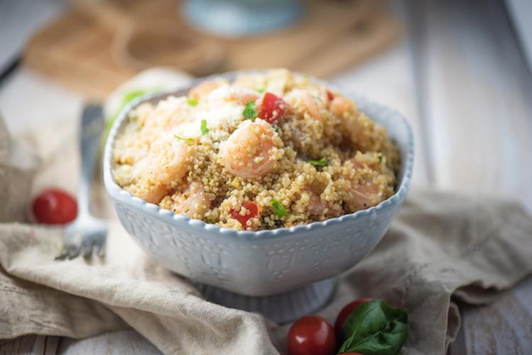 Garlic Parmesan Shrimp Quinoa