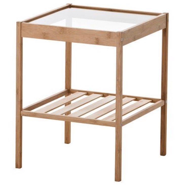 Ikea Durable Bamboo Nightstand