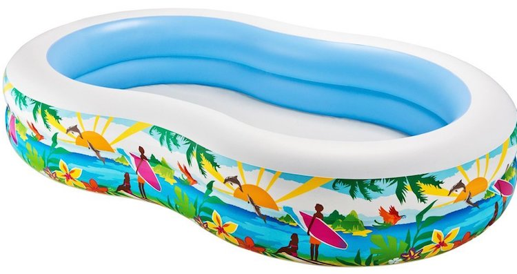 Intex pool rund best intex lounge stoel elegant intex - Intex swim center family lounge pool blue ...