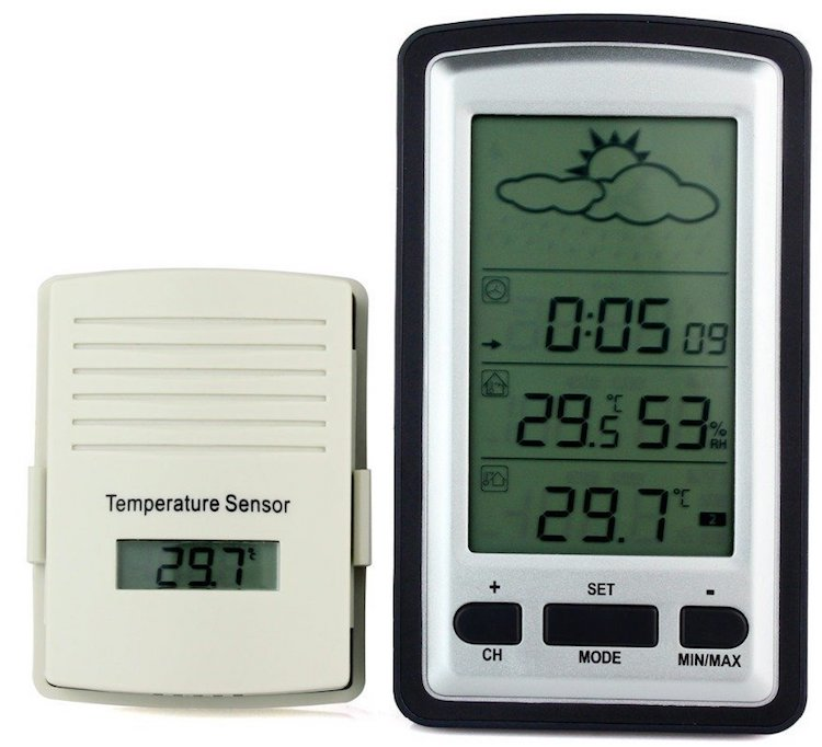 SYS Wireless Rain Meter Thermometer