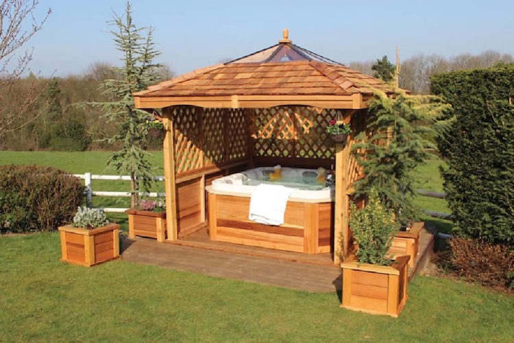 Backyard Hot Tub