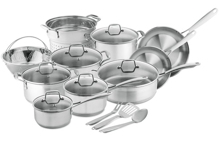 Chef's Star Professional Grade Stainless Steel 17 Piece Pot & Pan Set