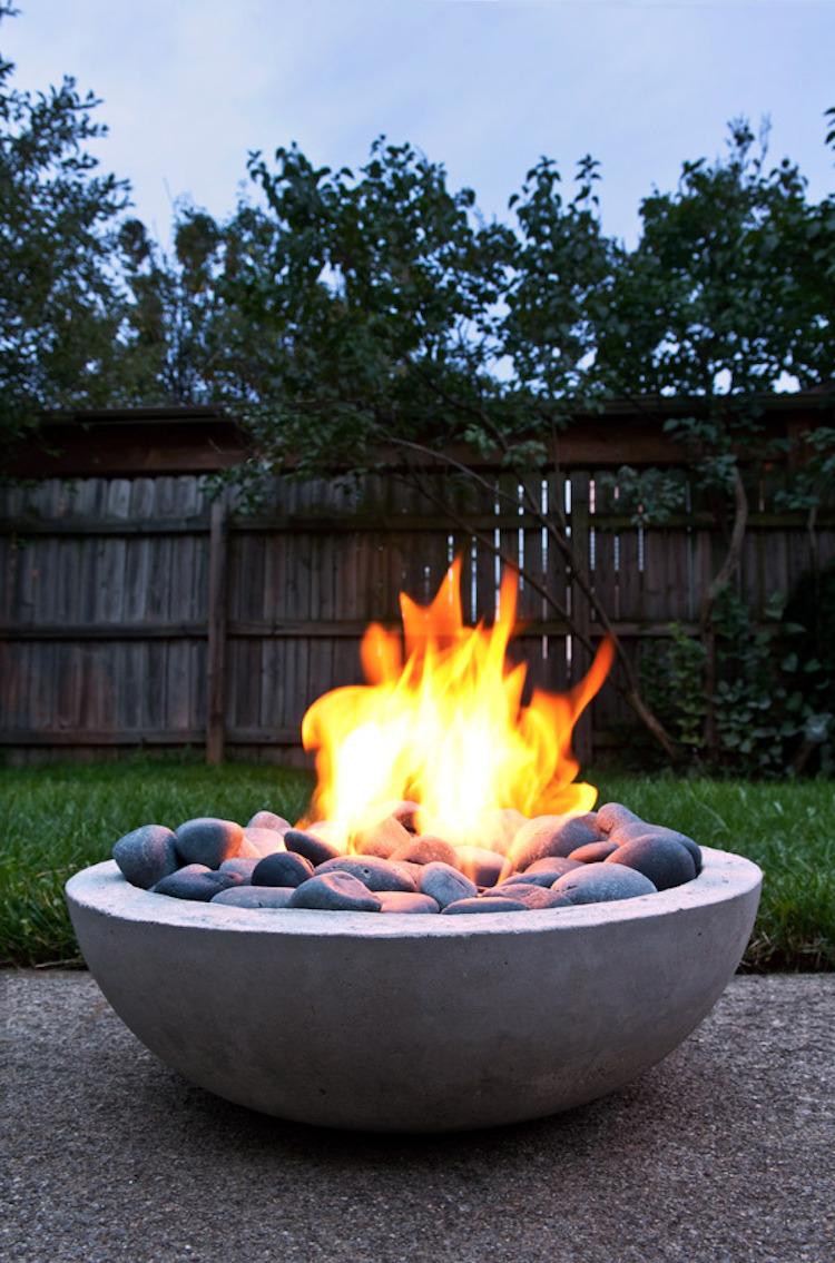 Concrete Bowl Style Fire Pit