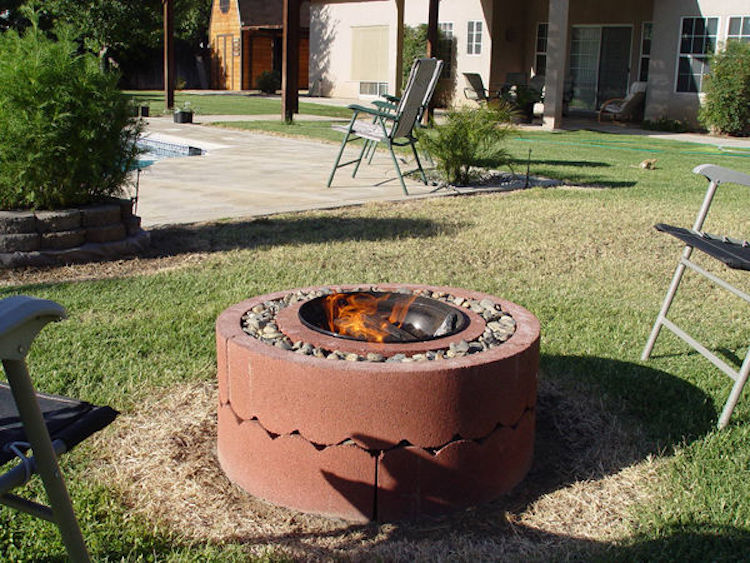 Concrete Tree Ring Fire Pit