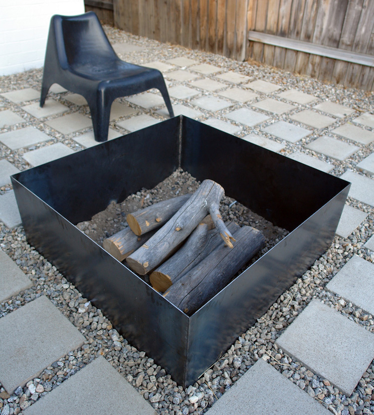 DIY Square Steel Fire Pit