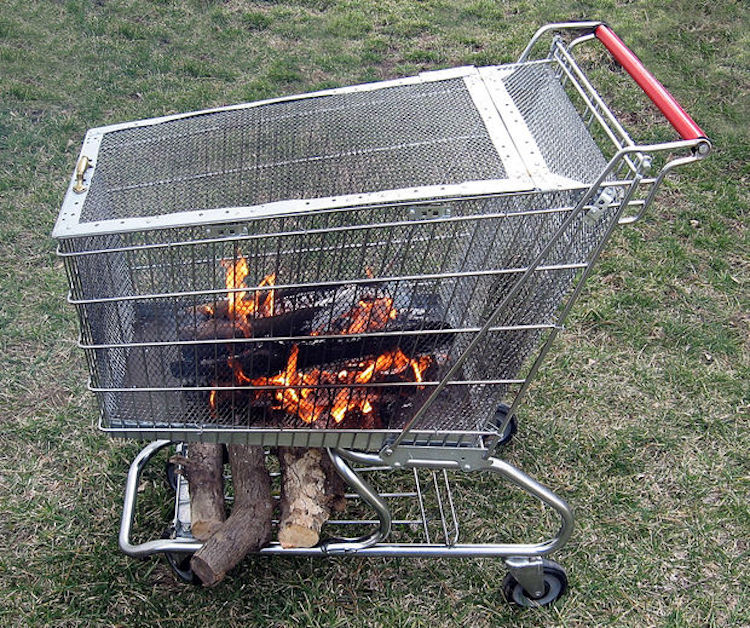 Grocery Cart Fire Pit