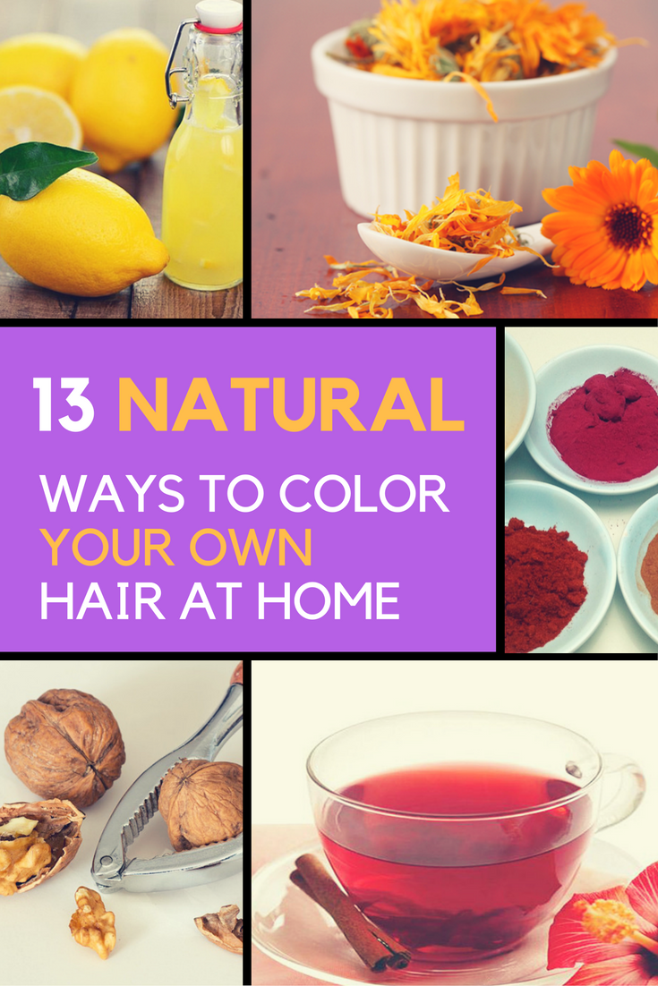 13 Natural Ways To Color Your Own Hair At Home. | Ideahacks.com