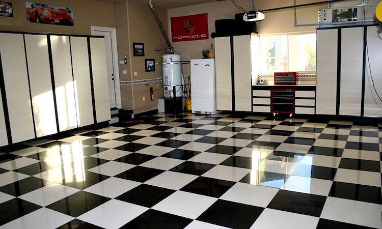 Porcelain Tile Garage Floor