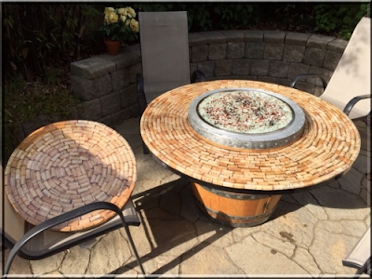 Propane Wine Barrel Fire Pit