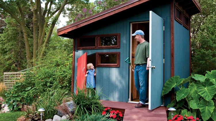 Simple Shed With Playhouse