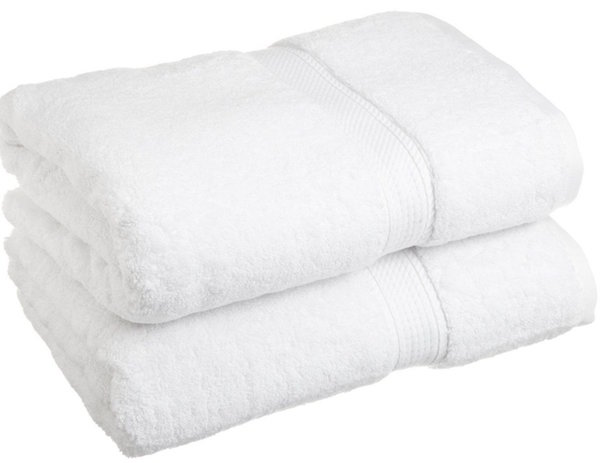 Superior 900 Gram Egyptian Cotton 2-Piece Bath Towel Set