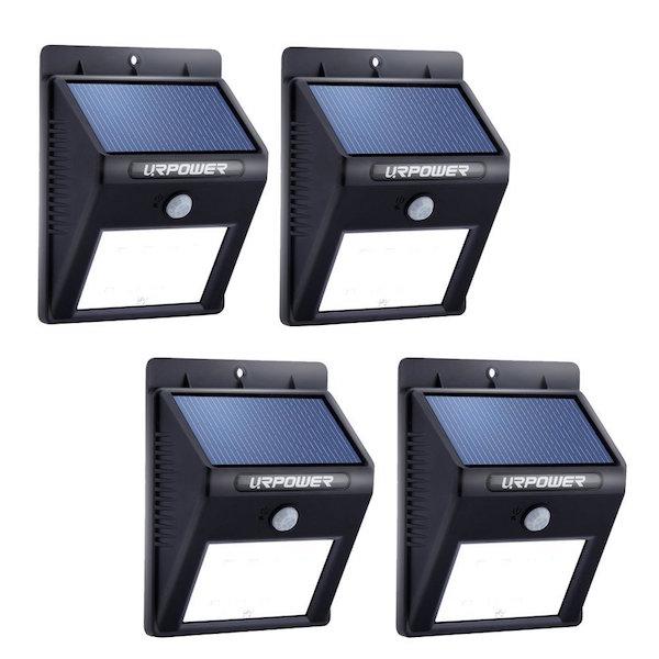 URPOWER 8 LED Outdoor Solar Powerd