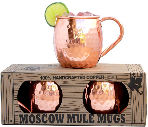 100% Solid Copper Moscow Mule Mugs