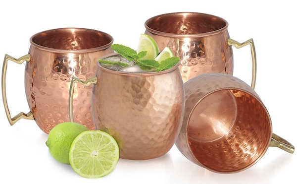 AVS STORE ® Handmade Pure Copper Hammered Moscow Mule Mug