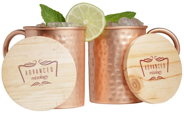 Advanced Mixology 16-Ounce Set of 2 Moscow Mule Copper Mugs