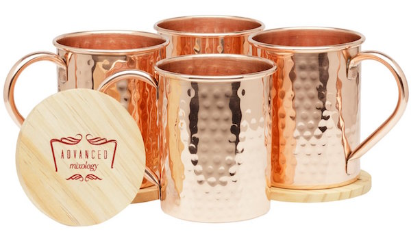 Advanced Mixology Moscow Mule Copper Mugs Set of 4