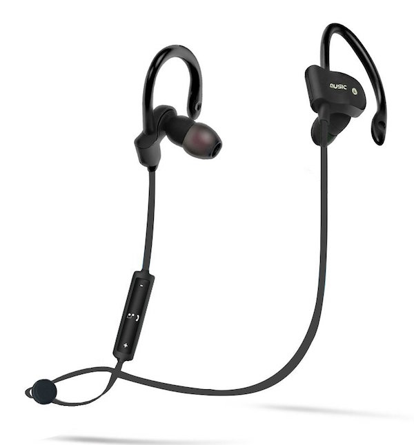 Amotus Wireless Sports Stereo Headsets in-Ear with Earhook Earbuds