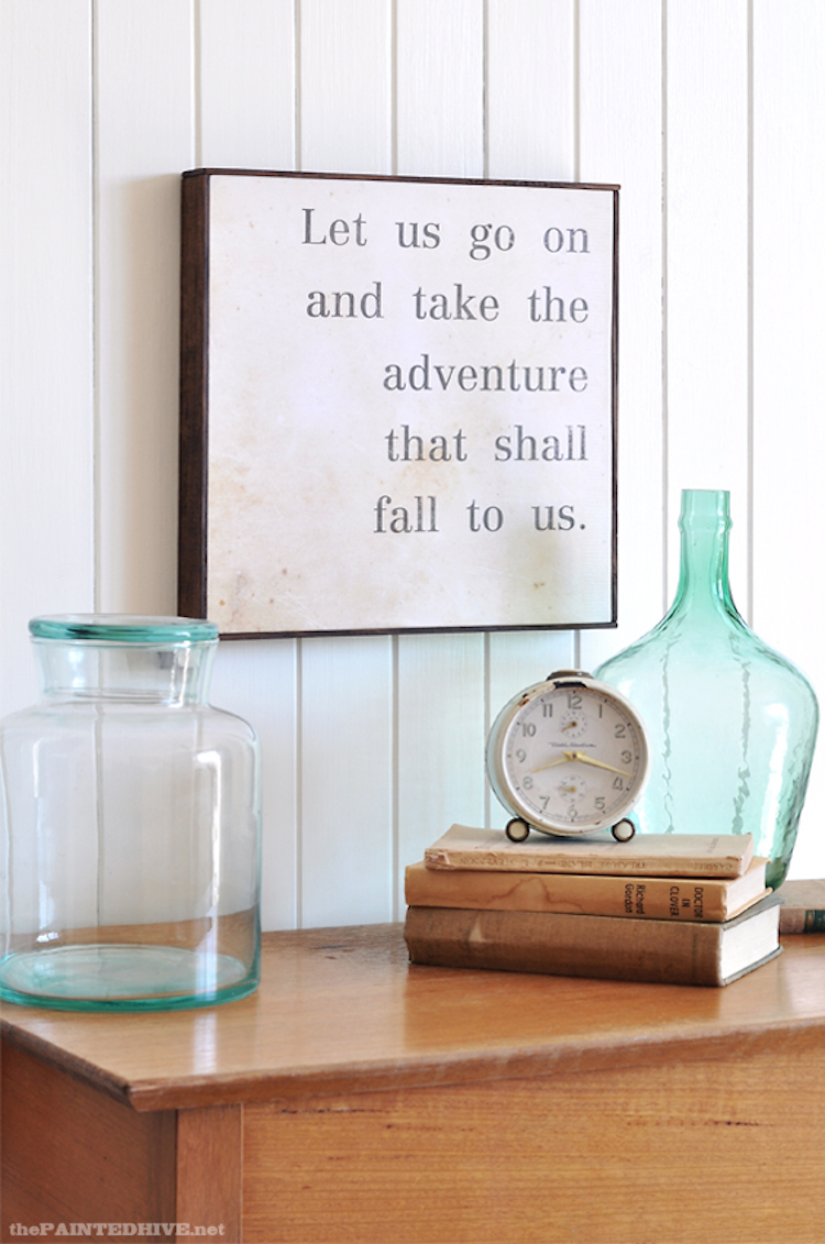 DIY Wall Art Quote Sign