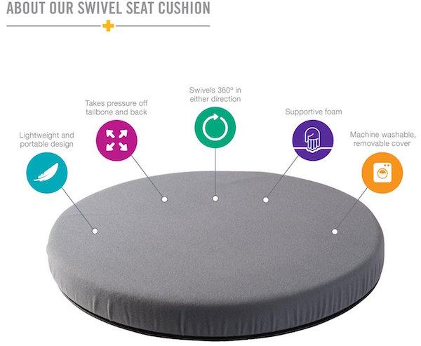DMI Deluxe Swivel Seat Cushion