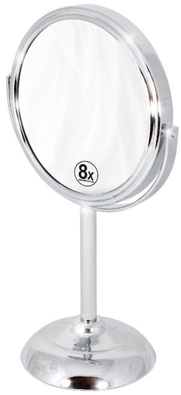 Decobros 6-inch Tabletop Two-Sided Swivel Vanity Mirror