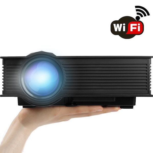 """ERISAN ER46B Updated Full Color Max 130"""" Pro Portable LCD LED Mini Projector"""