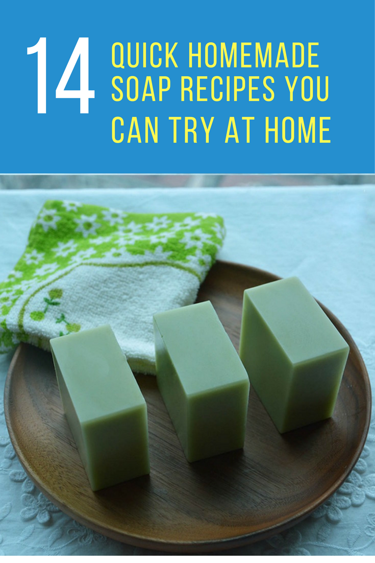 14 Quick Homemade Soap Recipes You Can Try at Home. | Ideahacks.com