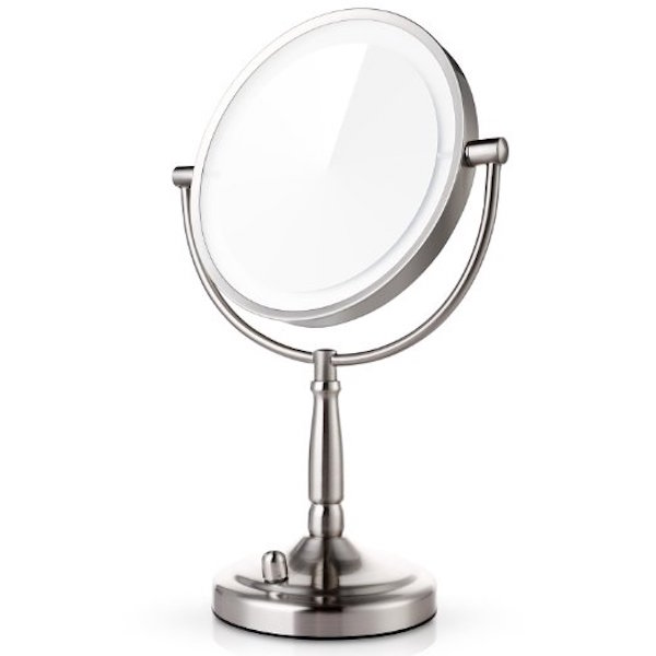 Miusco 7X Lighted Magnifying Double Side Adjustable Makeup Mirror