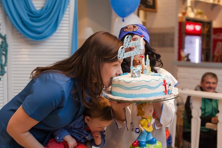 Mom Eating Birthday Cake