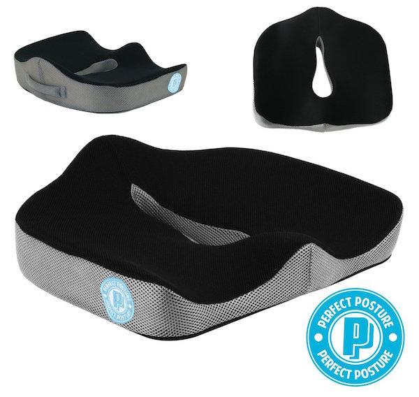 PERFECT POSTURE Memory Foam Seat Cushion