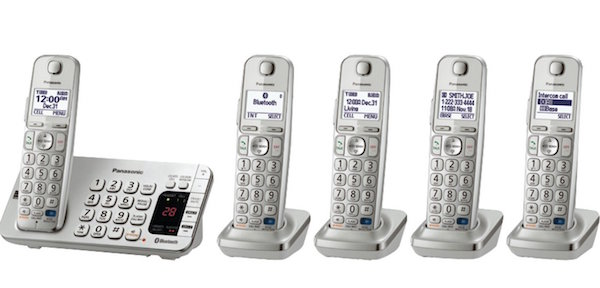 Panasonic KX-TGE275S 5-Cordless Handsets Link2Cell Bluetooth Corldess Phone