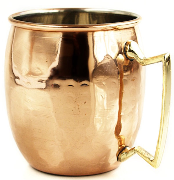RV Hammered Copper Moscow Mule Mug with Brass Handle