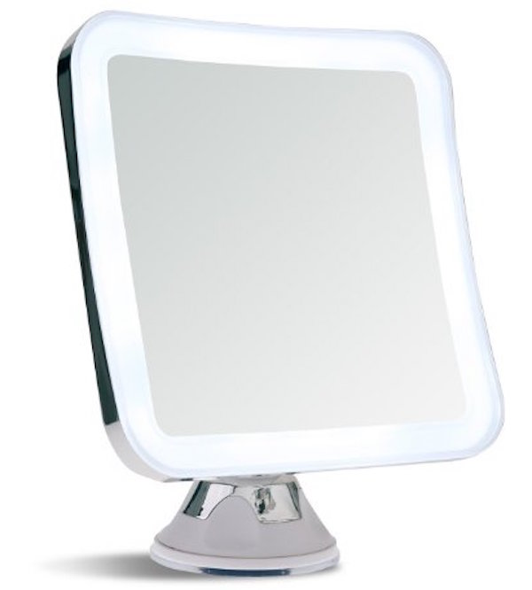 Sanheshun 7X Magnifying Lighted Travel Makeup Mirror