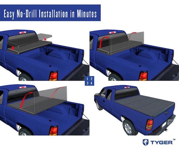 Tyger Auto TG-BC3C1006 Tri-Fold Tonneau Truck Bed Cover
