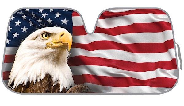 USA Eagle Flag Auto Sun Shade
