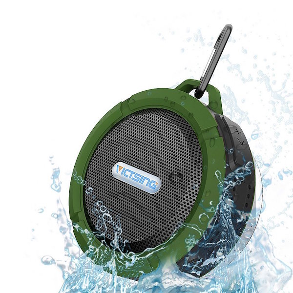 VicTsing Wireless Bluetooth 3.0 Waterproof Outdoor & Shower Speaker