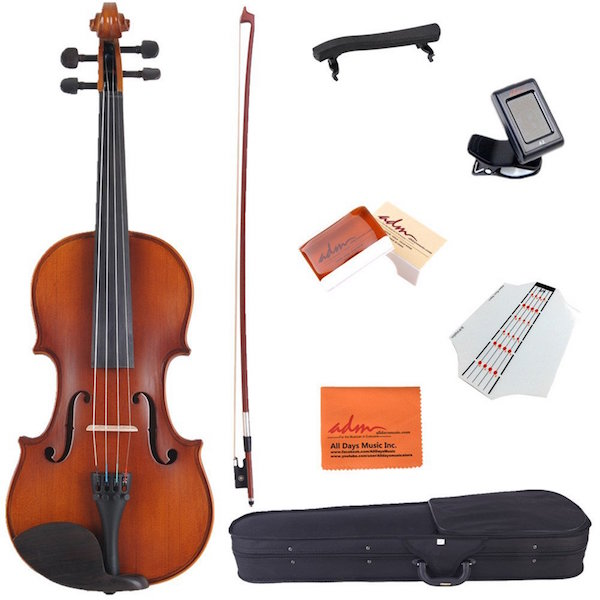 ADM 3/4 Size Handcrafted Solid Wood Student Acoustic Violin Starter Kit